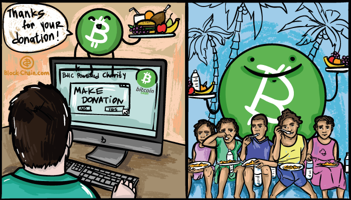 """Eat BCH"" is a good example how blockchain technologies can help with charity"